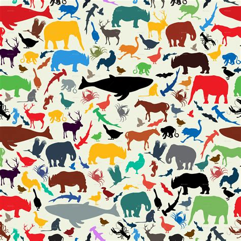 design pattern for zoo animals silhouette seamless pattern by bomberclaad