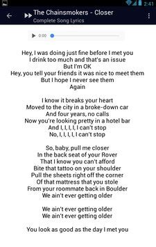 download mp3 closer by chainsmoker the chainsmokers closer lyrics apk download free music