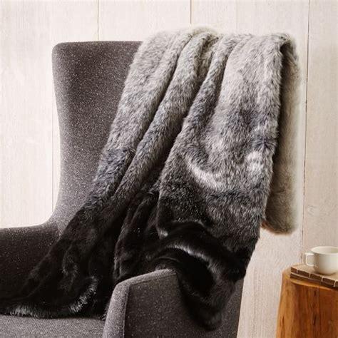 west elm sheepskin rug faux fur seal ombre throw west elm