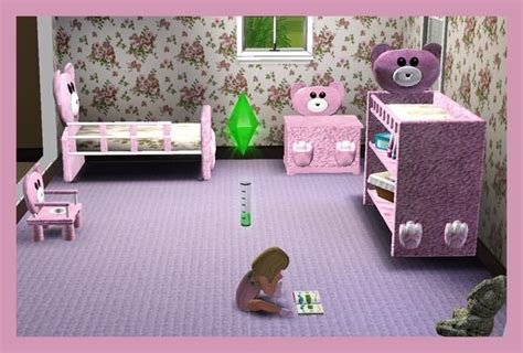 sims 3 toddler bed rebecah s mr bearlybutts toddler set