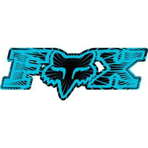 fox motocross stickers fox racing green