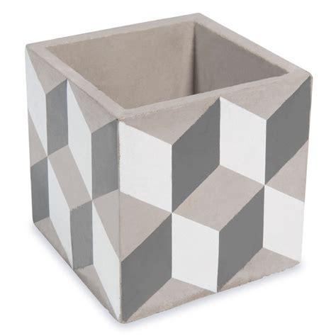 Pot Maison Du Monde by Cache Pot En Ciment H 11 Cm Cubik Maisons Du Monde