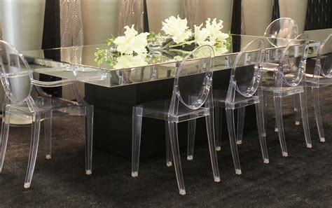 Round Dining Room Tables Seats 8 by Mirror Glass Table 4 X 8 Town Amp Country Event Rentals