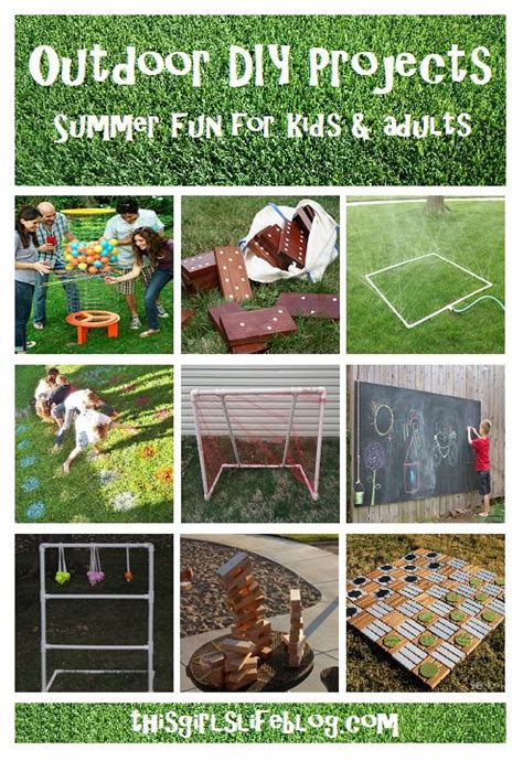 backyard game ideas for adults outdoor diy projects summer fun for kids adults