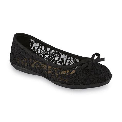 Bongo Women's Libby Black Lace Ballet Flat   Shoes   Women