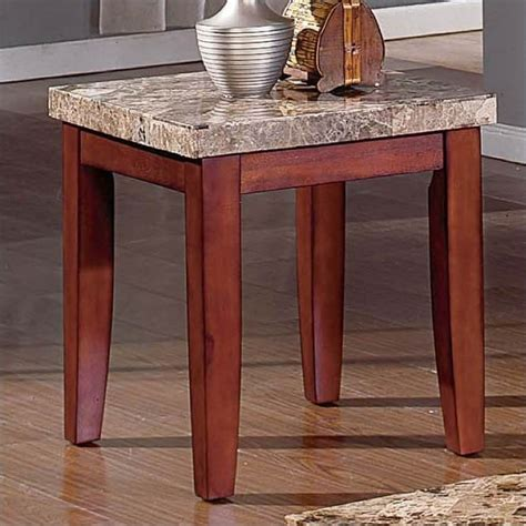 Marble End Tables Living Room by Steve Silver Company Montibello Marble End Table Mn700e