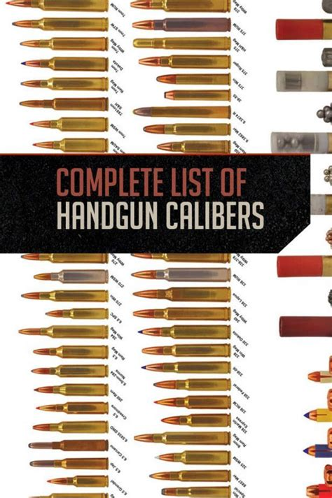 bullet for my names a complete list of handgun calibers cartridge names