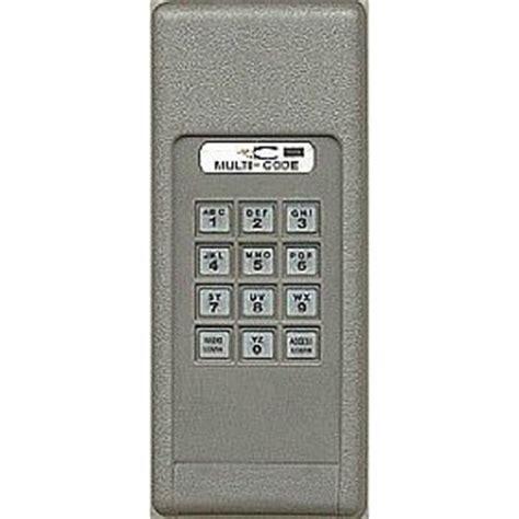 multi code 420001 300mhz door opener wireless keypad
