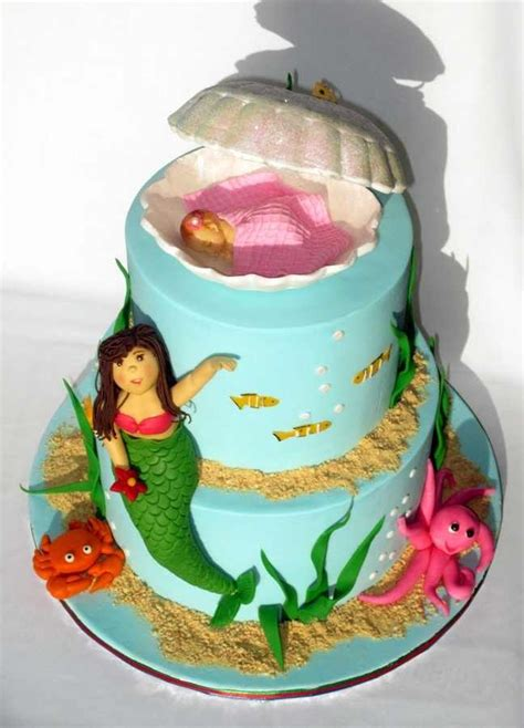 Mermaid Baby Shower Cake by Mermaid Baby Shower Cake Fortenberry