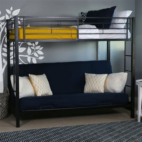 walmart futon bunk bed universal full over full bunk bed walmart com