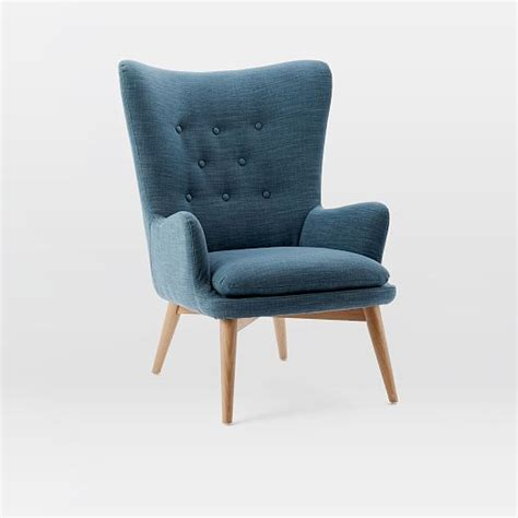 Wing Chair Niels Upholstered Wing Chair West Elm