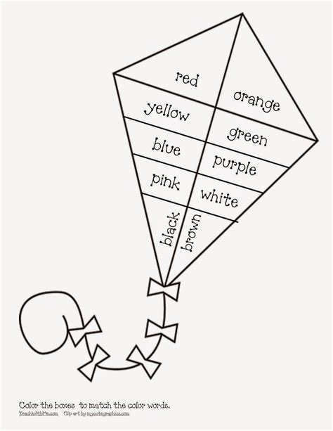 kite coloring pages for kindergarten kites for worksheets preschool kites best free printable