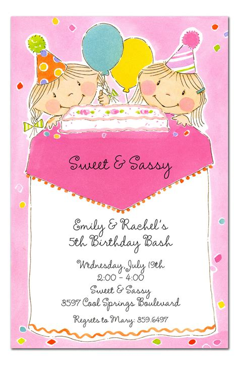 Sweet And Sassy Gift Cards - sweet and sassy birthday invitations by invitation consultants ic pp 21026i