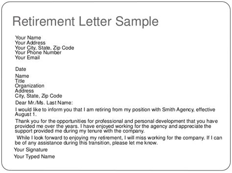 10 best images of sample of retirement notice letter retirement