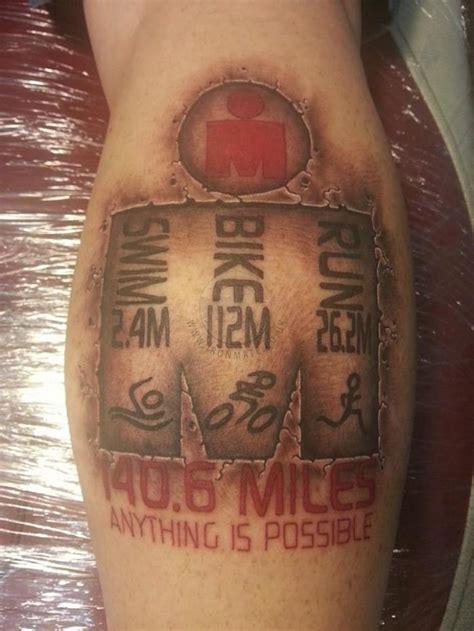 selection of m dot ironman triathlon tattoos from around