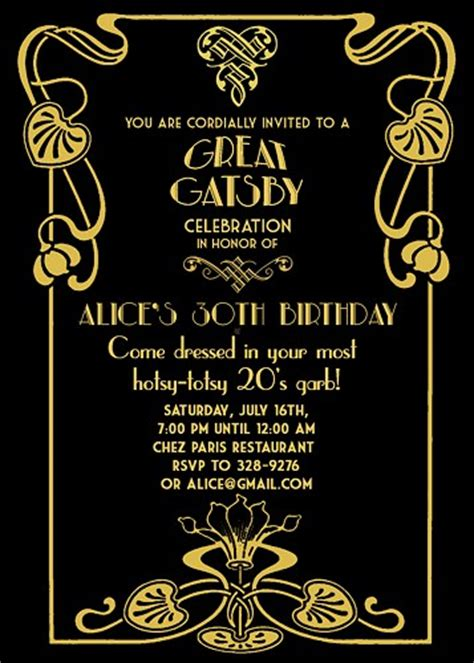 great gatsby party invitations theruntime com
