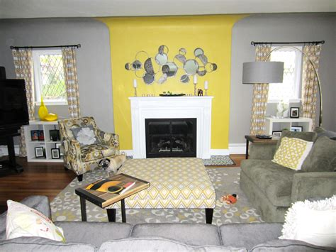 yellow and grey room gray and yellow living room decorating lovely yellow and