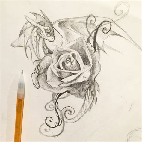 197 rose dragon by lucky978 on deviantart