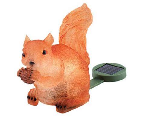 Squirrel Solar Light Solar Powered Light Up Squirrel Craziest Gadgets