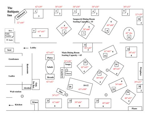 baldpate event planning floorplans baldpate