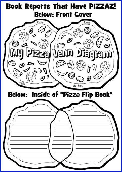 flip book book report pizza venn diagram book report project templates