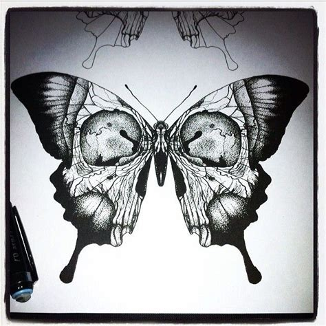 butterfly skull tattoo best 25 skull butterfly ideas on