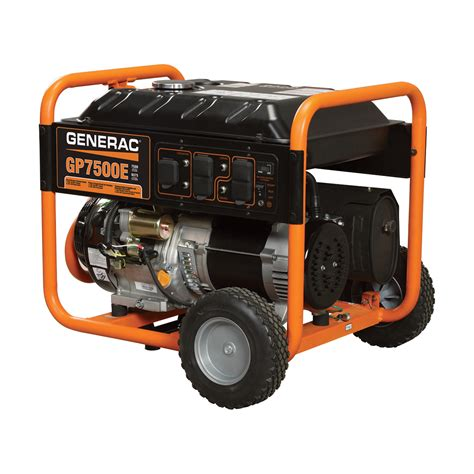 portable electric generator free shipping generac gp7500e portable generator 9375