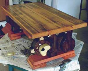 bear coffee table woodworking blog  plans