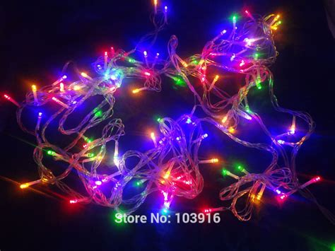 220v With Eu Plug Waterproof 10m 100led Christmas String Rgb String Lights
