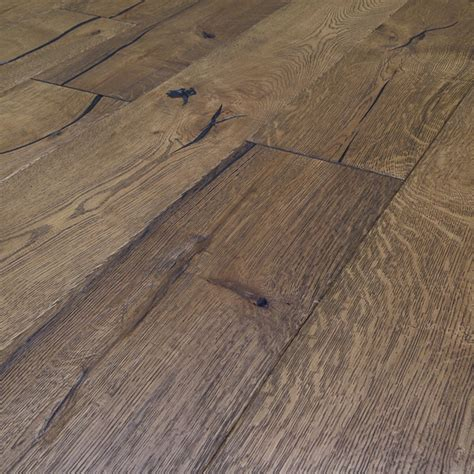 Distressed Engineered Flooring - loire distressed 20mm honey oak heavy brushed engineered