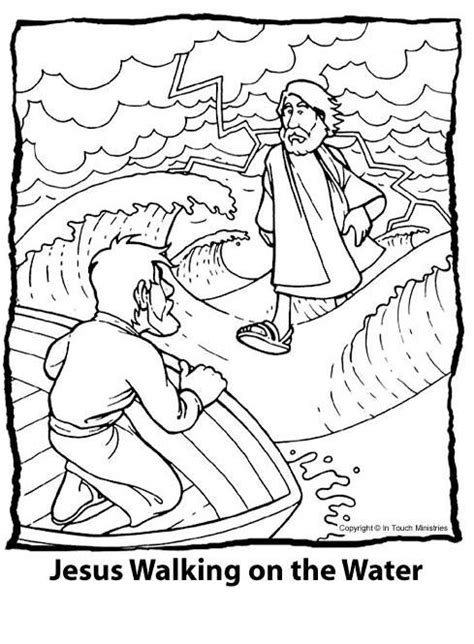 coloring pages for jesus walking on water crafts workin with page 2