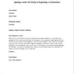 Business Letter Apology Delay Apology Letters Writeletter2