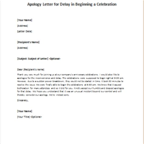Sle Apology Letter To For Delay Apology Letters Writeletter2