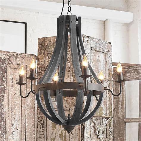 wine chandeliers wooden wine barrel stave chandelier home decorating