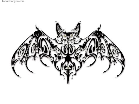 tribal bat tattoo design wallpapers wallpaper cave