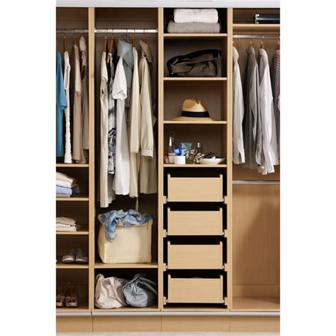 flatpax wardrobe drawer 900mm light oak bunnings warehouse