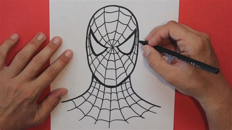 imagenes de spiderman para dibujar faciles c 243 mo dibujar a spiderman how to draw spiderman youtube