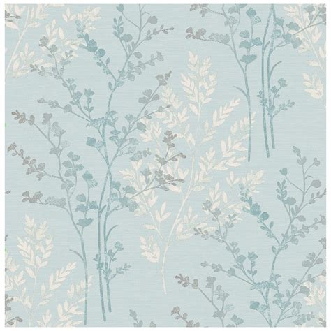 Grey Wallpaper B M   b m gt arthouse imagine fern teal motif vinyl wallpaper