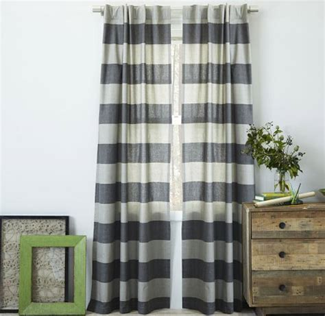 gray and cream striped curtains curtains ideas 187 black and cream horizontal striped