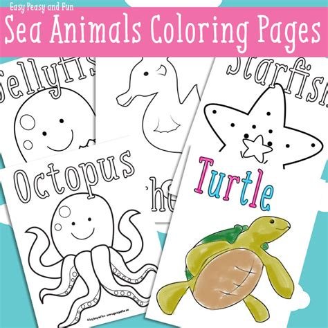 ocean animal coloring pack  homeschool deals