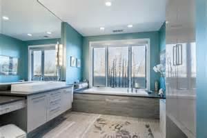 Attractive Idee Deco Chambre Fille #14: Vasque-rectangulaire-salle-de-bains-bleue.jpg