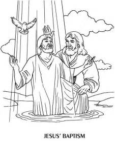 john the baptist coloring pages baptized jesus colouring pages