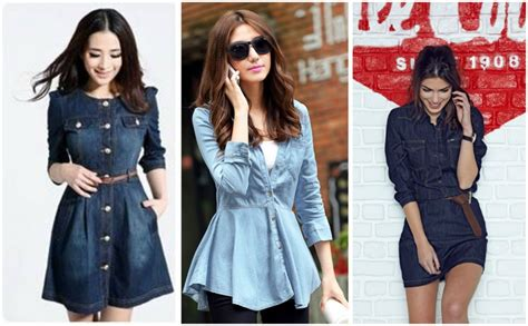 42269 Blue Denim Casual Top classic denim fashion looks for g3fashion