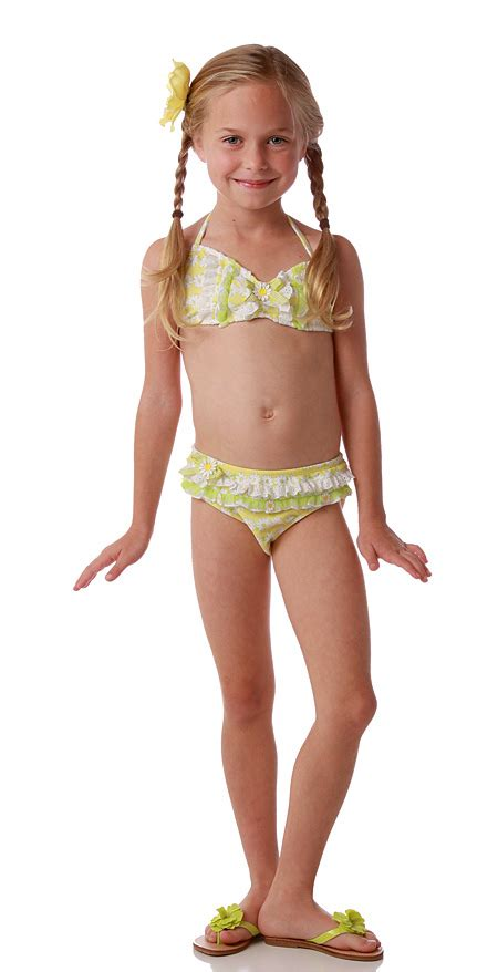 Kate mack yellow daisy bikini swimsuit