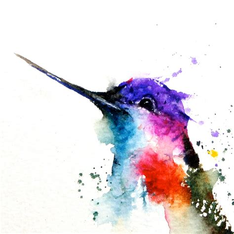 hummingbird original watercolor painting by deancrouserart