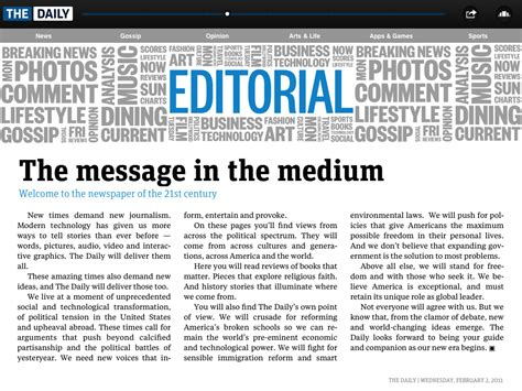 newspaper editorial template 3 editorial h