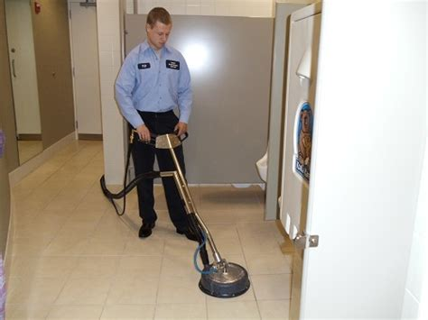 Buffing Waxed Floors by Summit Maintenance 773 774 7707 Floor Care