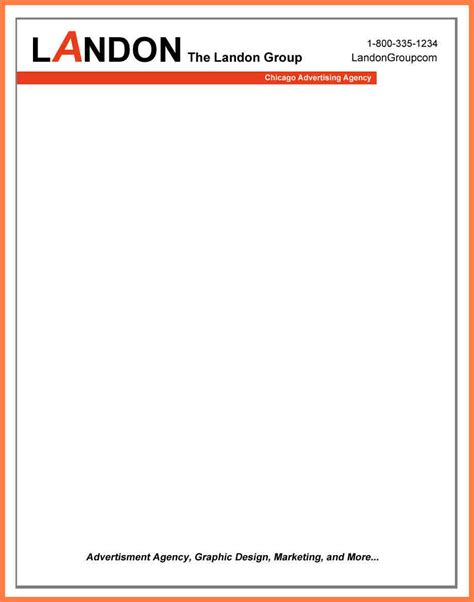templates for letterhead 5 exles of company letterhead templates company