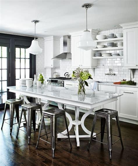 kitchen black and white kitchen island table industrial style 25 beautiful black and white kitchens the cottage market