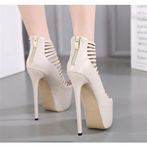 beige strappy high heels beige strappy heels peep toe platform pumps high heel